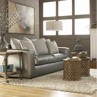 Metallic Leather Furniture As Your Go To Accent Feature